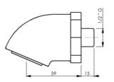 vandaalbestendige douchekop (waterbesparend) voor inbouw leidingwerk_