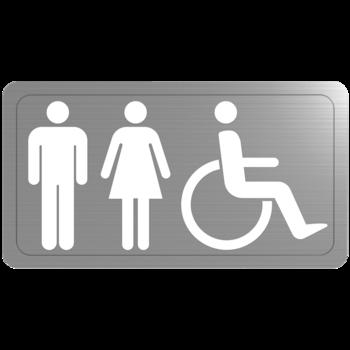 RVS WC pictogram zelfklevend